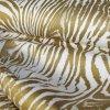 Querstretch bedruckt gold-weiß
