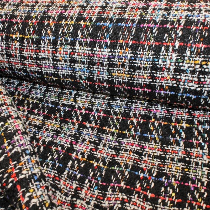 Mantelstoff Karo Multicolor