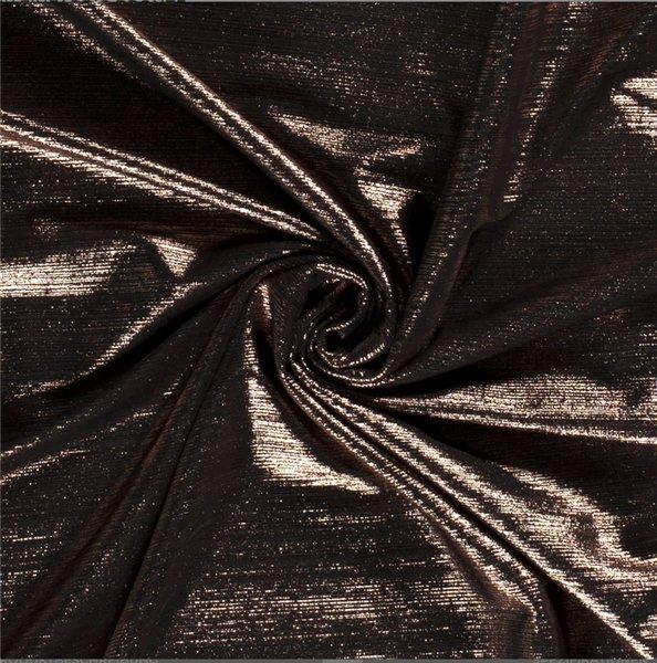Modestoffe Folienjersey bronze (Rock)