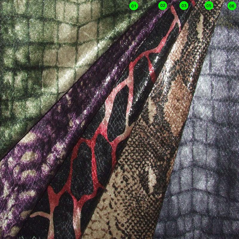 Pannesamt Foliendruck Reptil