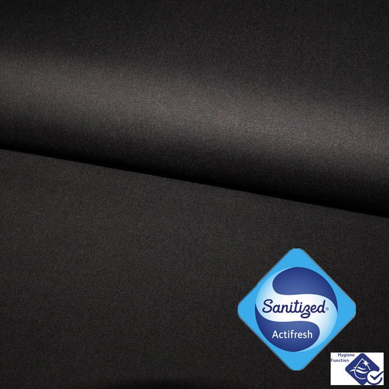 Antibakteriell mit Sanitized®  - Feine Popeline schwarz