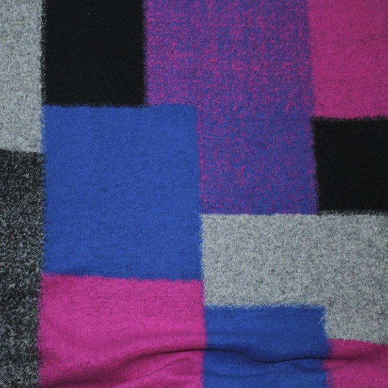 Walkloden Bunte Viereck 14x32 cm, 17x20 cm, 23x23 cm
