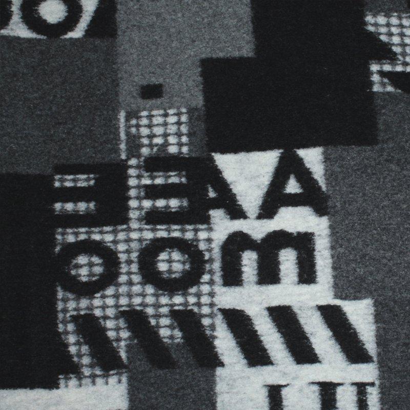 Walkloden bunt - Buchstaben - Rapport 46,6 cm