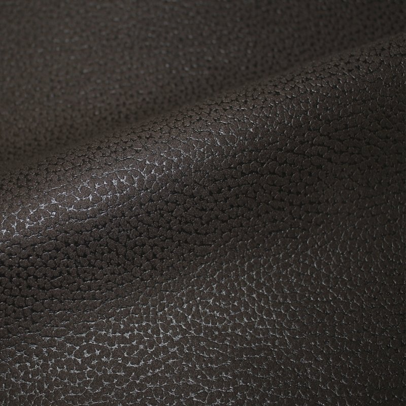 Möbelbezugsstoff schwer Kunstleder gefutert dunkelbraun