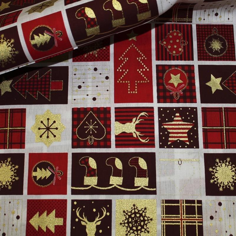 Feinpopeline Weihnachtsdruck rot