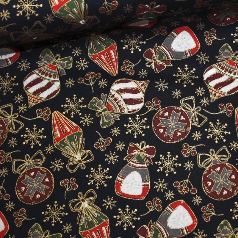 Feinpopeline Weihnachtsdruck Kugel gross dunkelblau