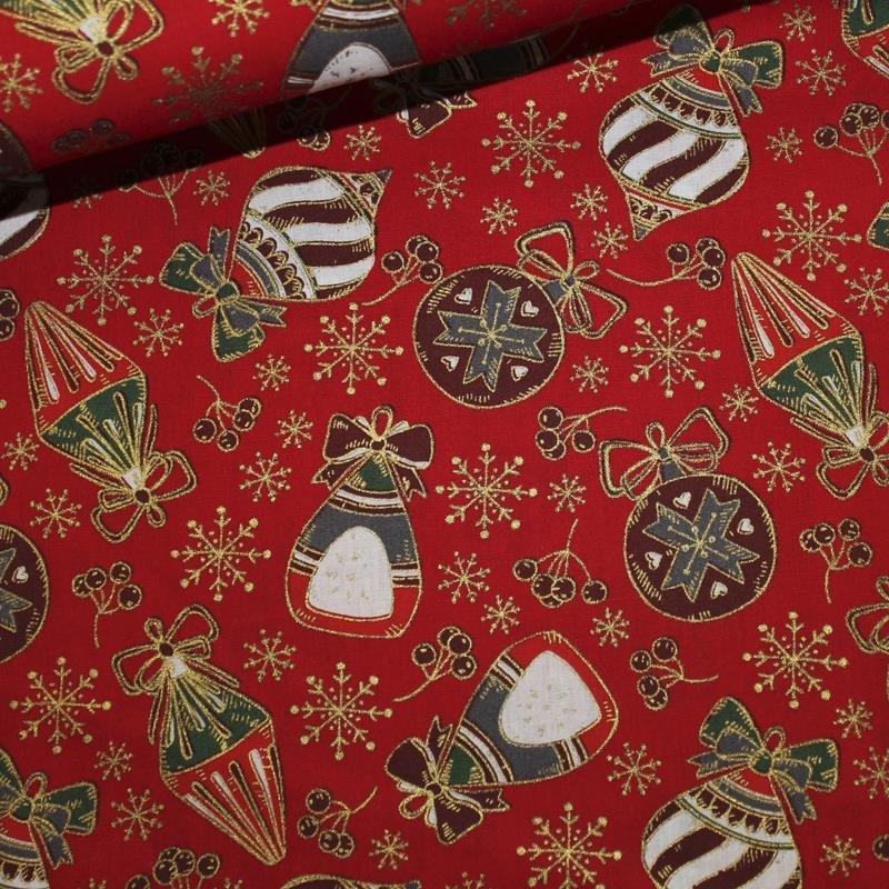 Feinpopeline Weihnachtsdruck Kugel gross rot