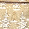 Organza Foliendruck Tannenbaum beige