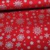 Feinpopeline Weihnachtsdruck Schneeflocken silber