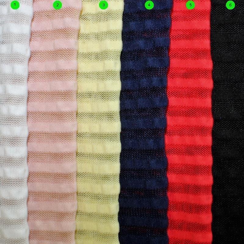 Bi-Stretchtüll Streifen mit Cloque Streifen 5 mm