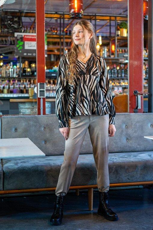 Modestoffe Viskose Animalprint braun (Bluse)
