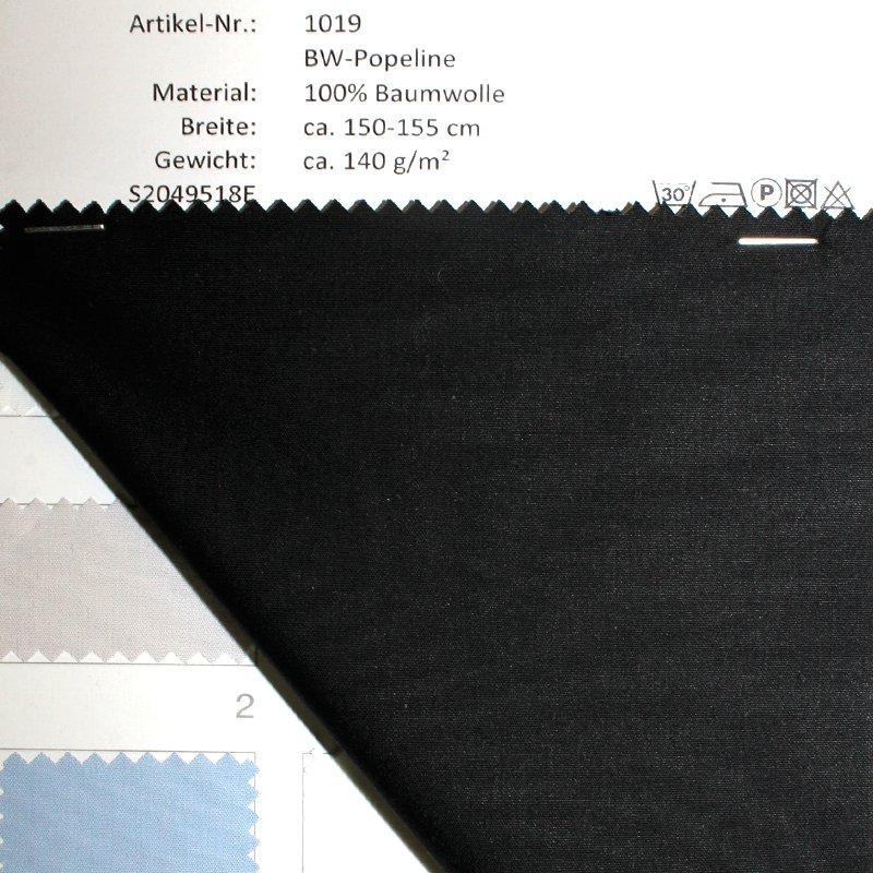 Farbkarte BW-Popeline in 6 Farben