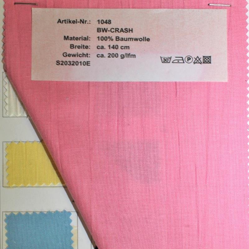Farbkarte BW-Crasch in 8 Farben