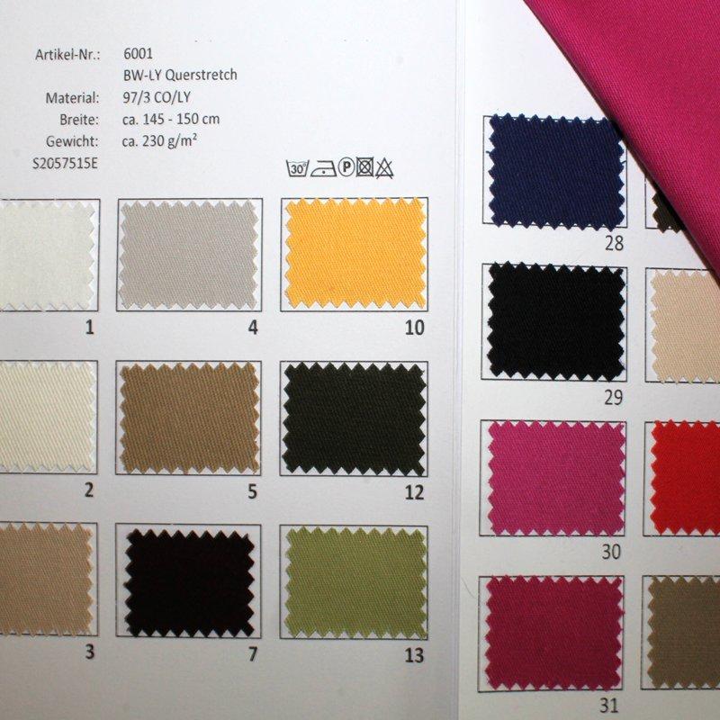 Farbkarte BW-LY Querstretch in 30 Farben