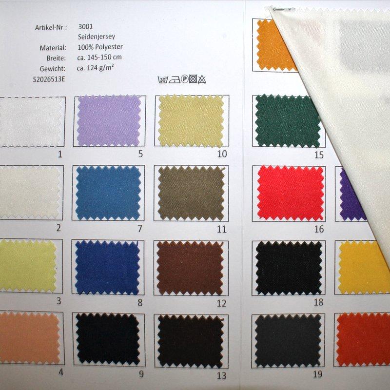 Farbkarte Seidenjersey in 26 Farben