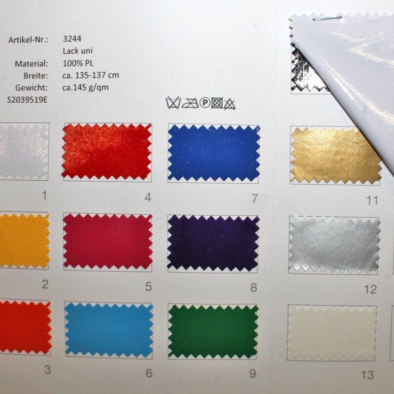 Farbkarte Lack Unil in 14 Farben