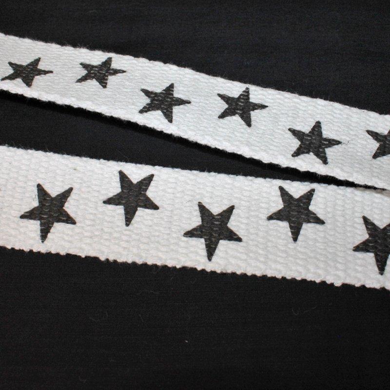 Gurtband 30 mm Baumwolle Sterne