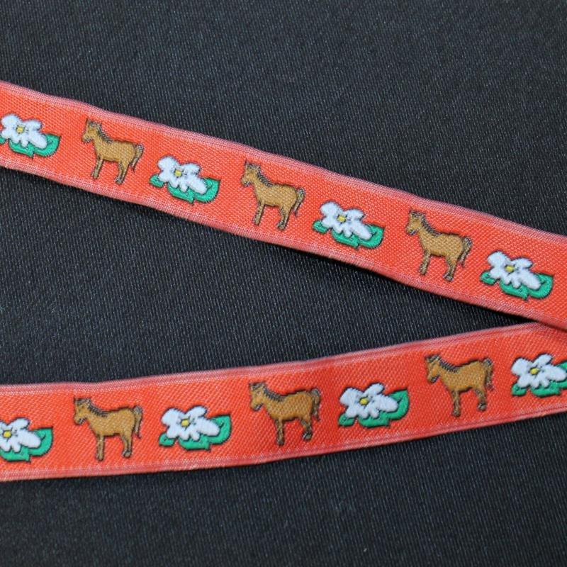 Ripsband 12 mm Pferd