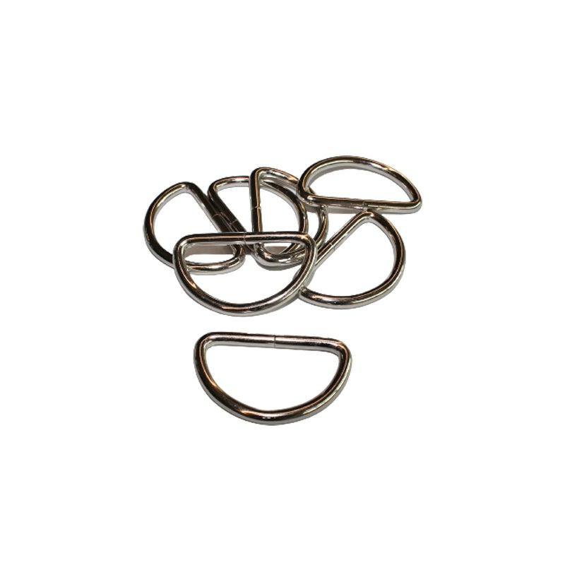 D Ring 20 mm silber