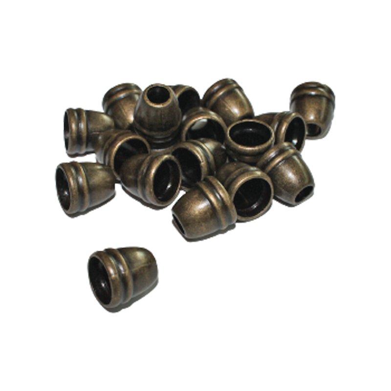 Kordelenden aus Metall 10 mm altmessing