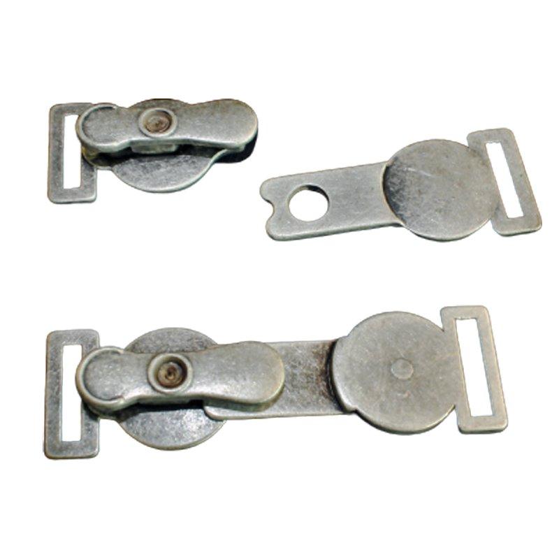 Trachten Metall Verschluss altsilber 70 mm