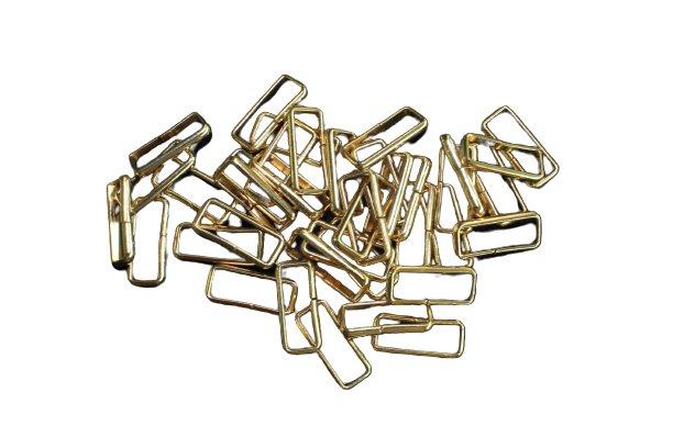 Gürtelschlaufen  Metall 20 mm breit gold